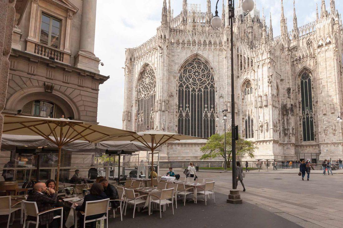 L'abside del duomo di Milano in una giornata di primavera