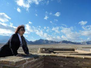 Alle e il deserto dal tetto del caravanserai Zein-o-Din