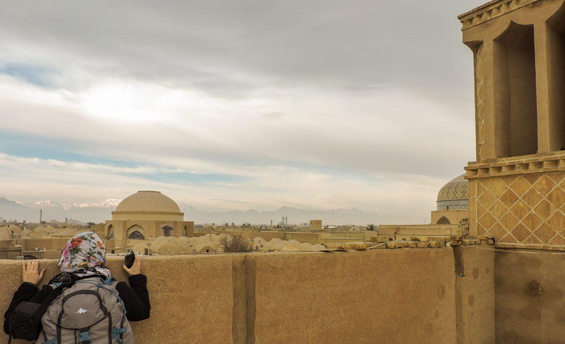 L' ocra delle città iraniane: una panoramica dall'alto del centro di Yazd