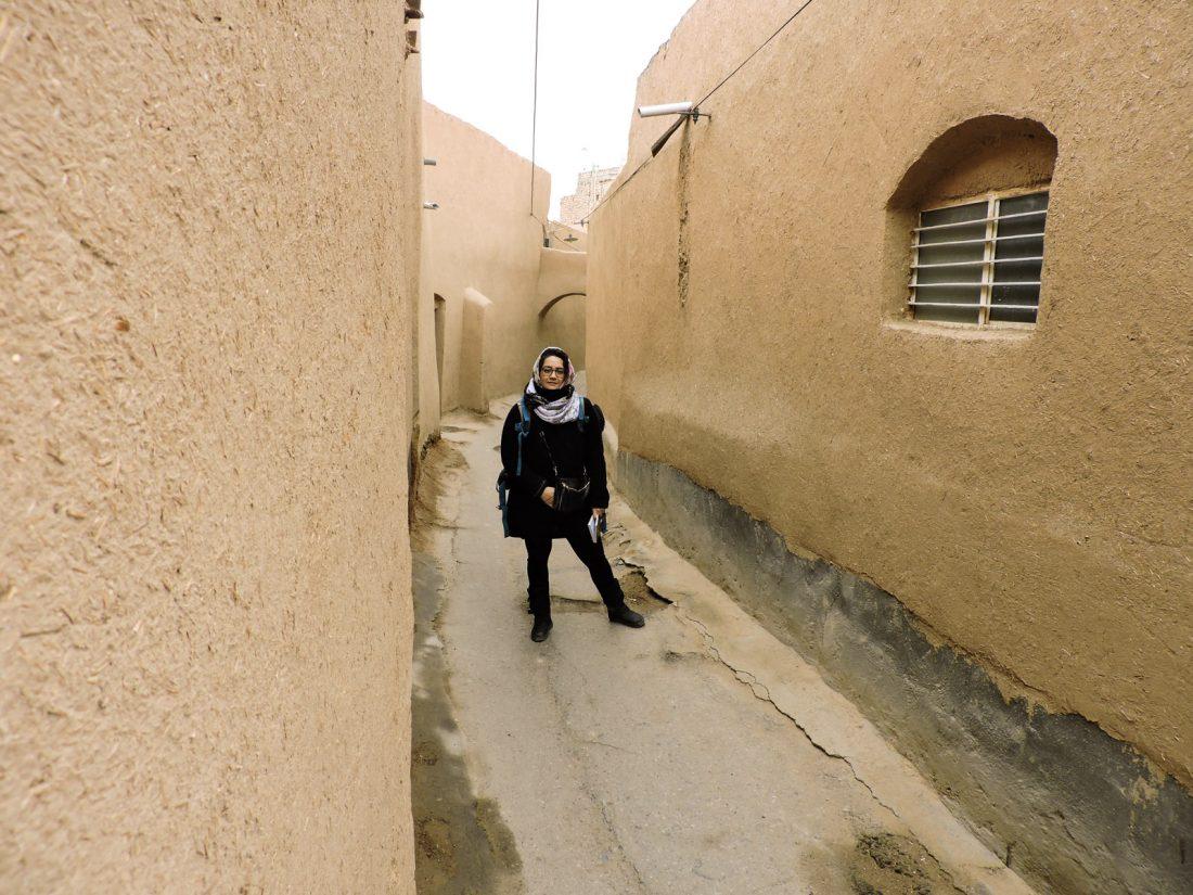 L' ocra delle città in Iran: alle in una via del centro di Yazd