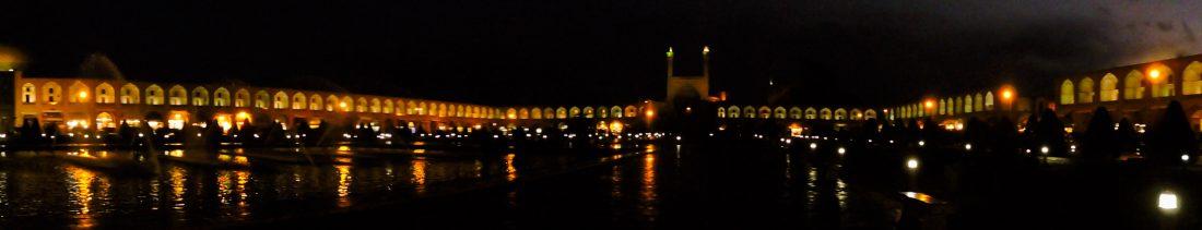 Il nero della notte: la piazza Naqsh-e jahàn a Isfahan
