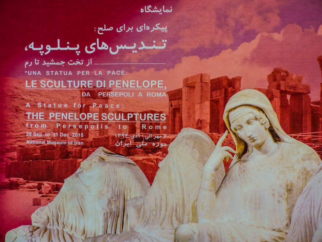 """Una mostra al palazzo del Golestan a Teheran intitolata """"le sculture di Penelope"""""""
