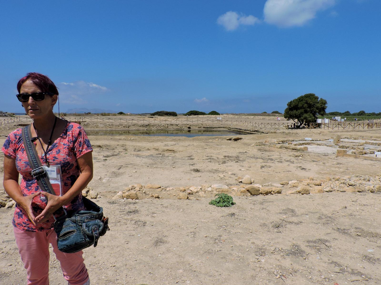 Virginia Aloisi spiega la storia fenicia dell'isola di Mozia