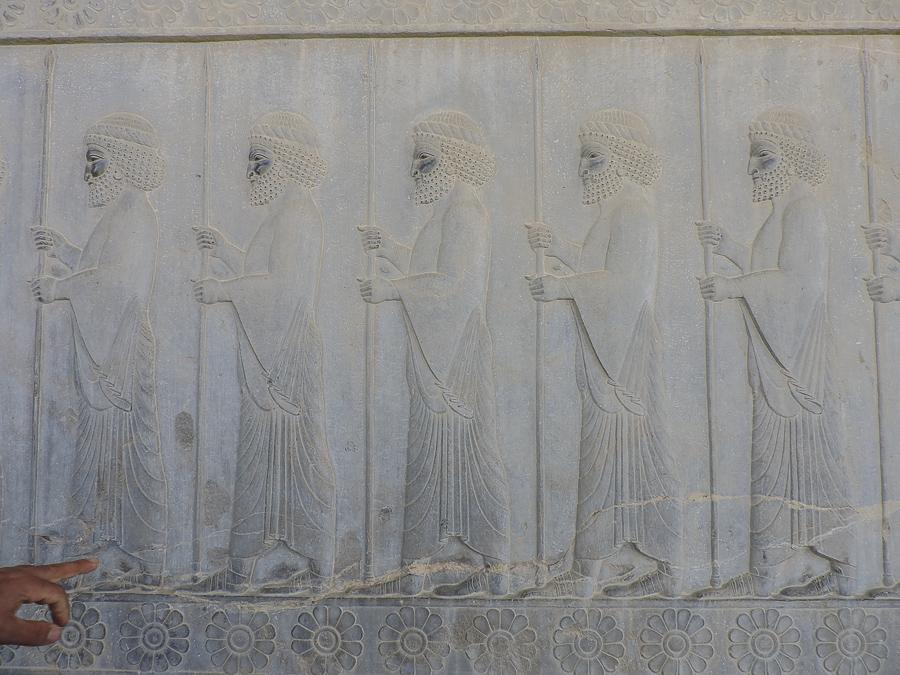 Decorazioni nel Palazzo dell'Apadana