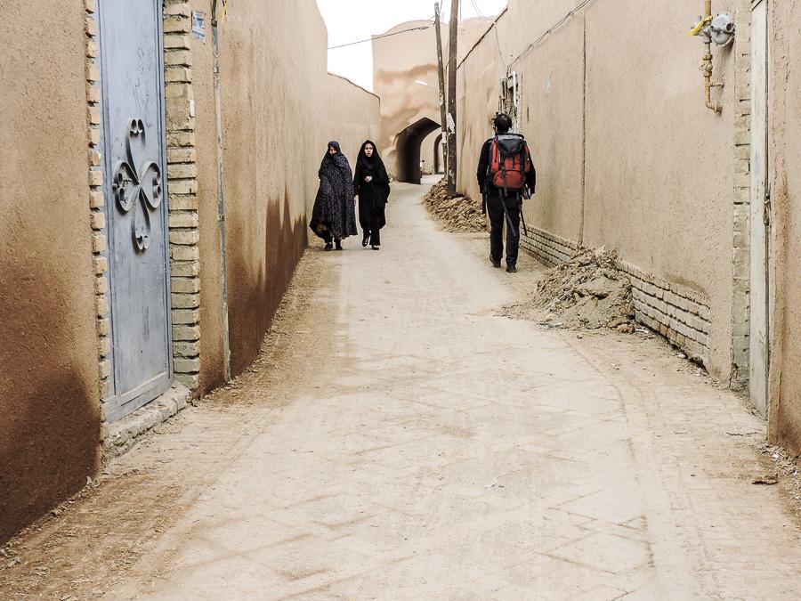 Una delle strade nella città vecchia di Yazd