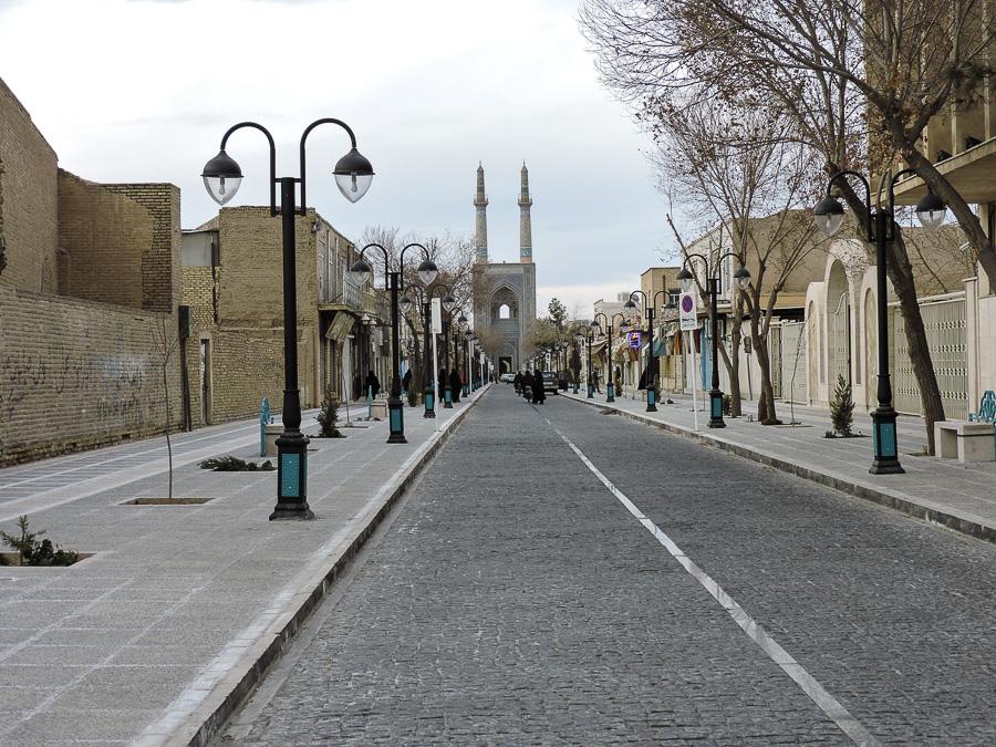 Prospettiva sulla Masjid-e Jame di Yazd