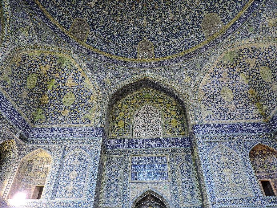 Mirhab all'interno della Moschea dello Scià