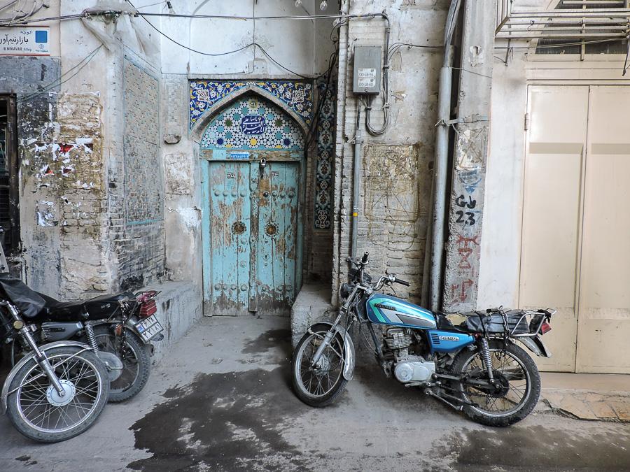 Ingresso di una moschea all'interno del bazar di Isfahan