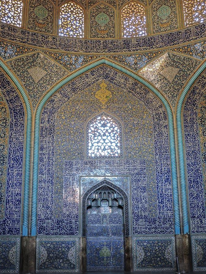 Decorazioni della Moschea Sheikh Lotfollah