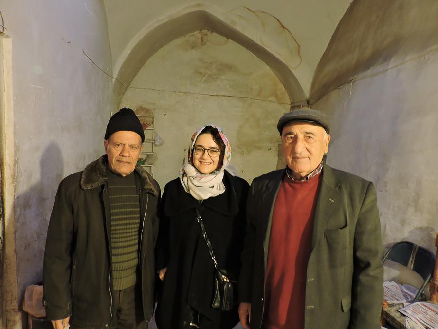 Ritratto all'interno della macina al Bazar di Isfahan