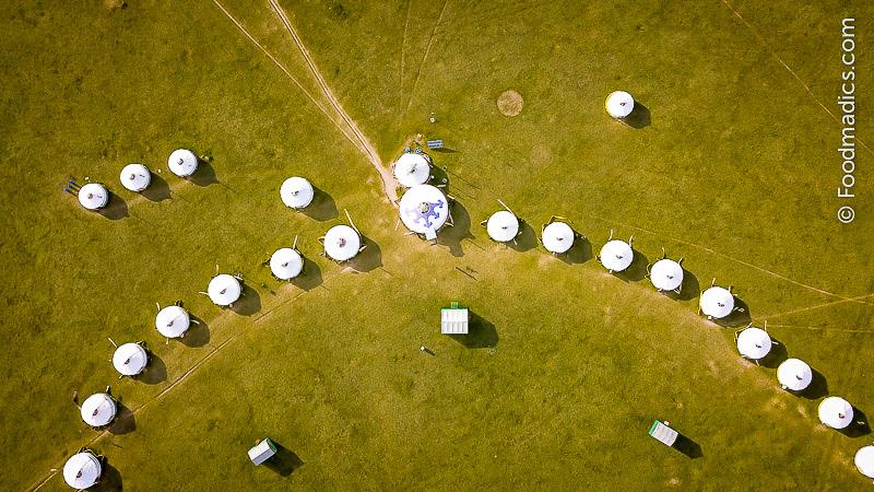 Foodmadics drone view of Mongolia