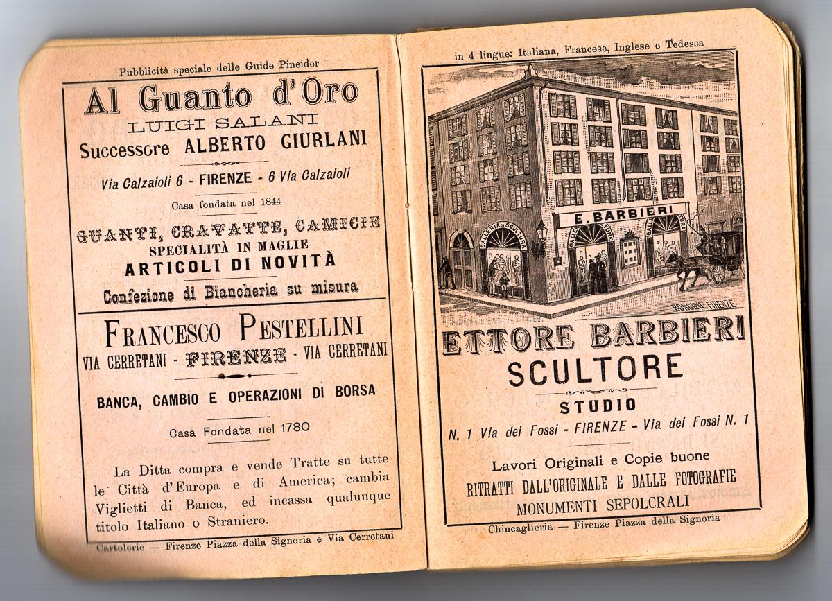 Lo scultore Ettore Barbieri che operava in via dei fossi a Firenze