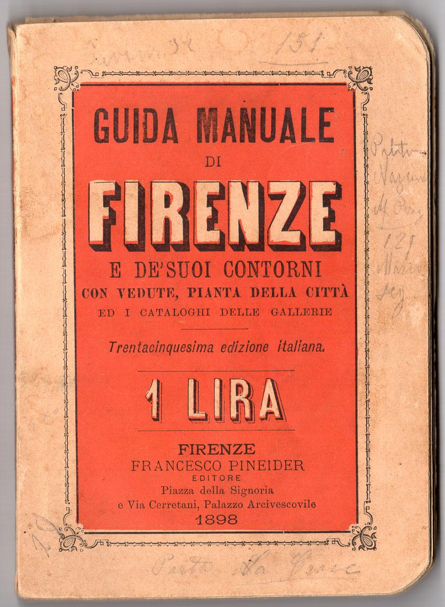 guida di firenze del 1898