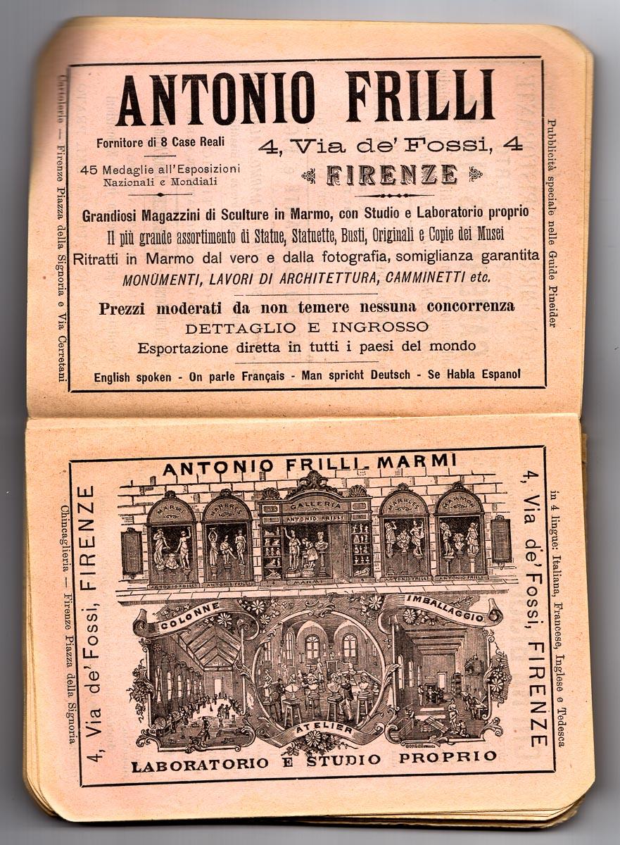 il marmista Antonio Frilli a Firenze in via dei Fossi