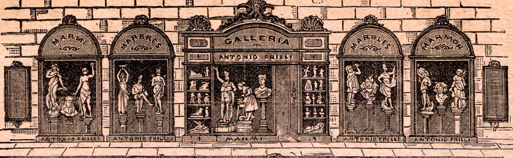 le vetrine di Antonio Frilli in via dei Fossi