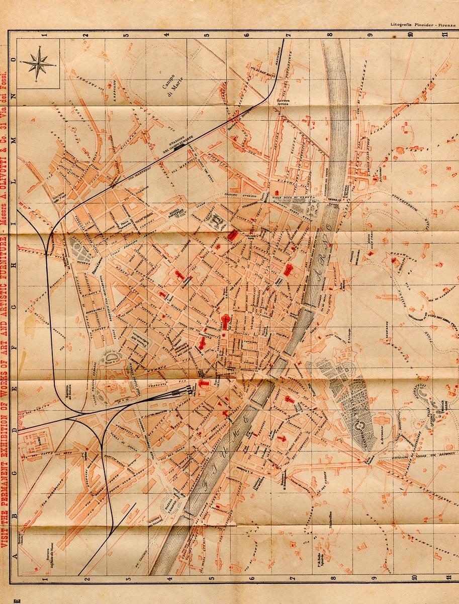 mappa di firenze nel 1898