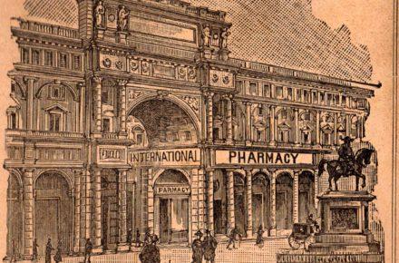 piazza vittorio emanuele (oggi piazza della repubblica) a Firenze nel 1898