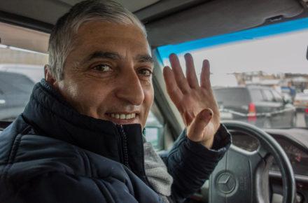 il tassista georgiano che ci ha portato al mercato di Tbilisi