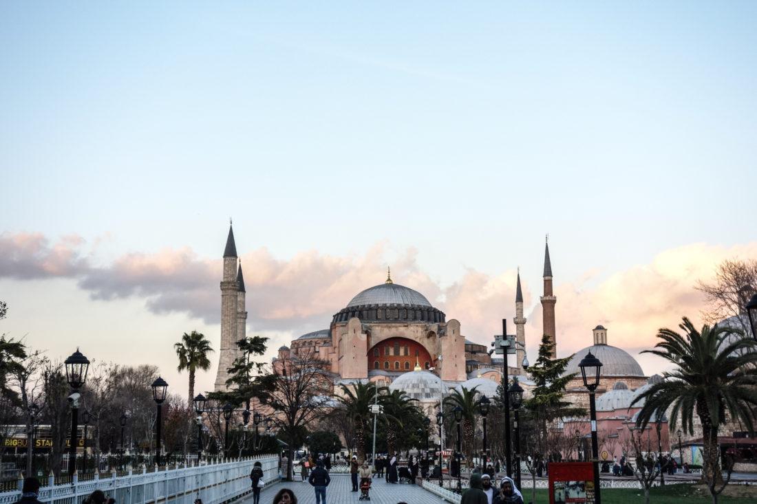 Hagia Sophia vista dalla Moschea Blu