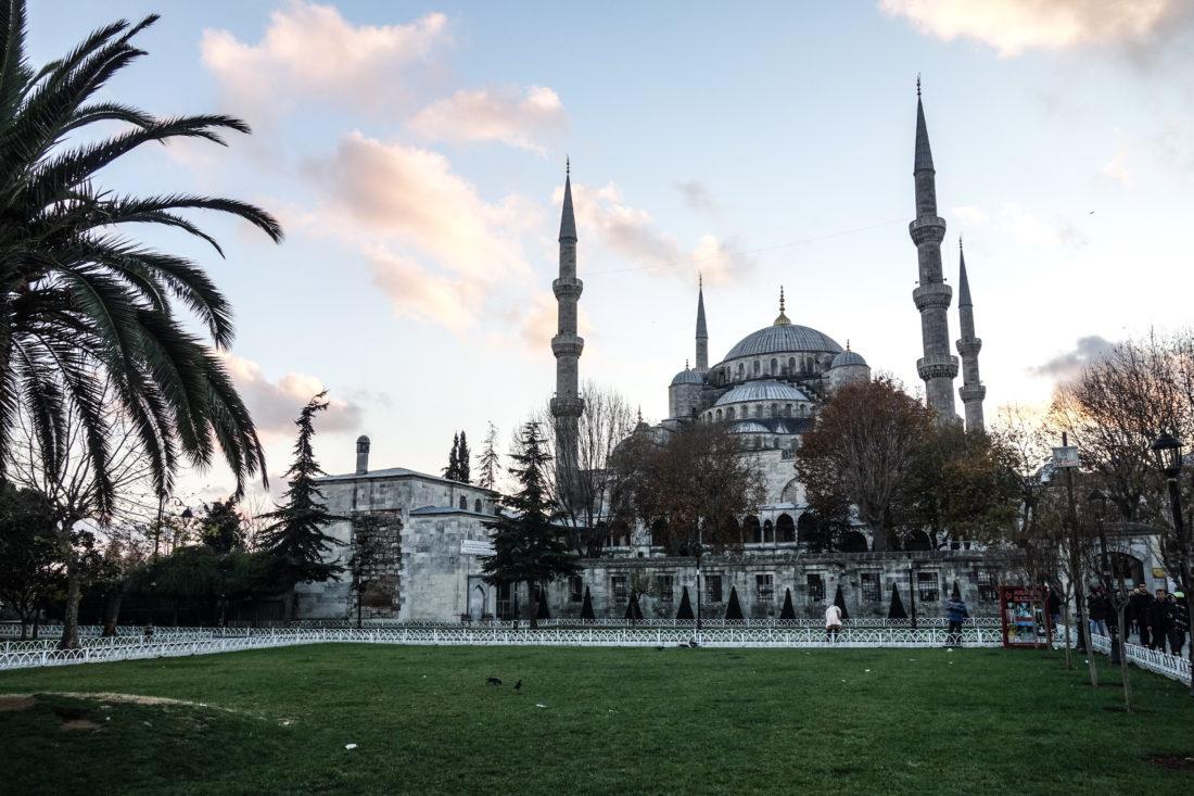 L'esterno della moschea Blu