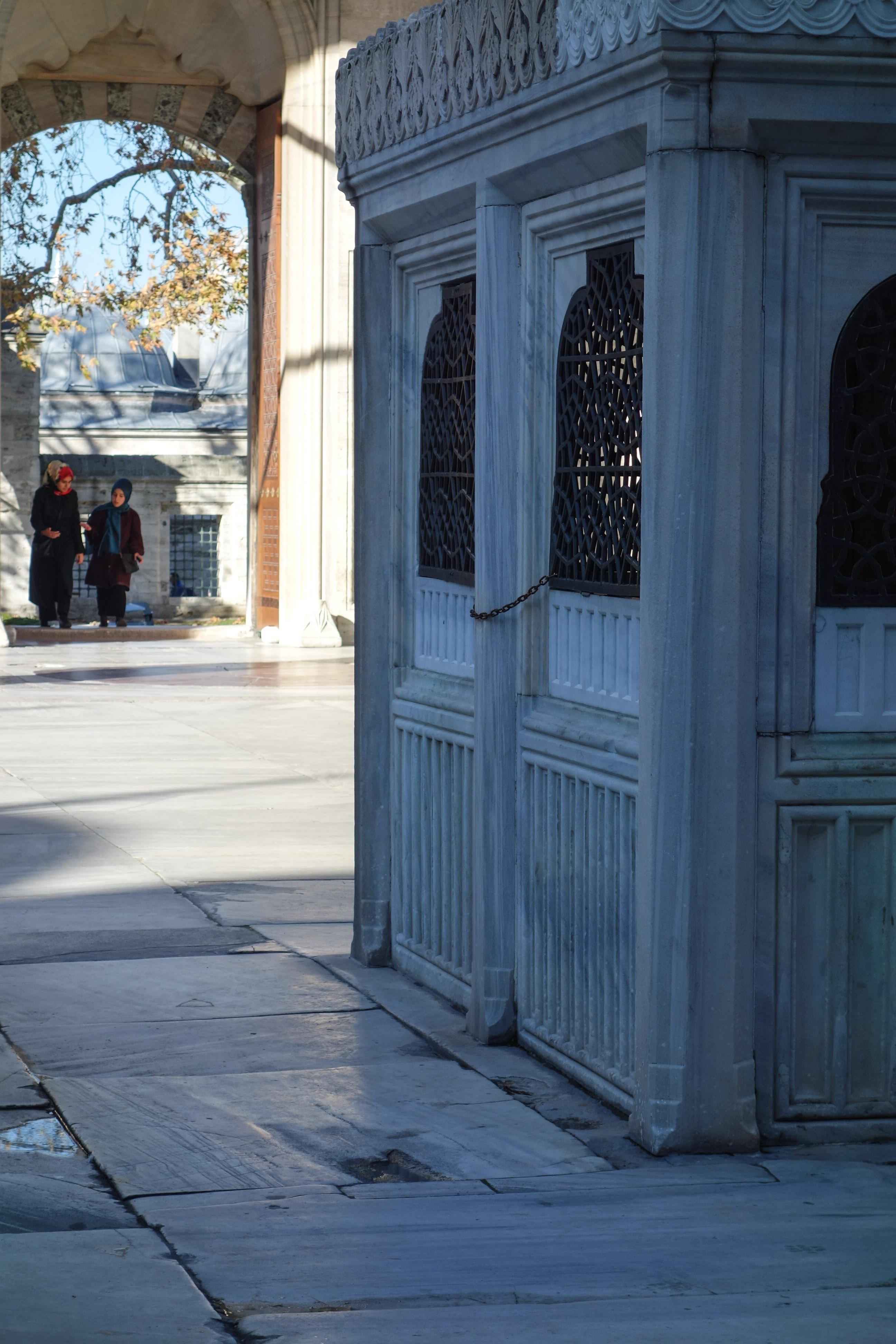L'area per le abluzioni della moschea Suleymaniye