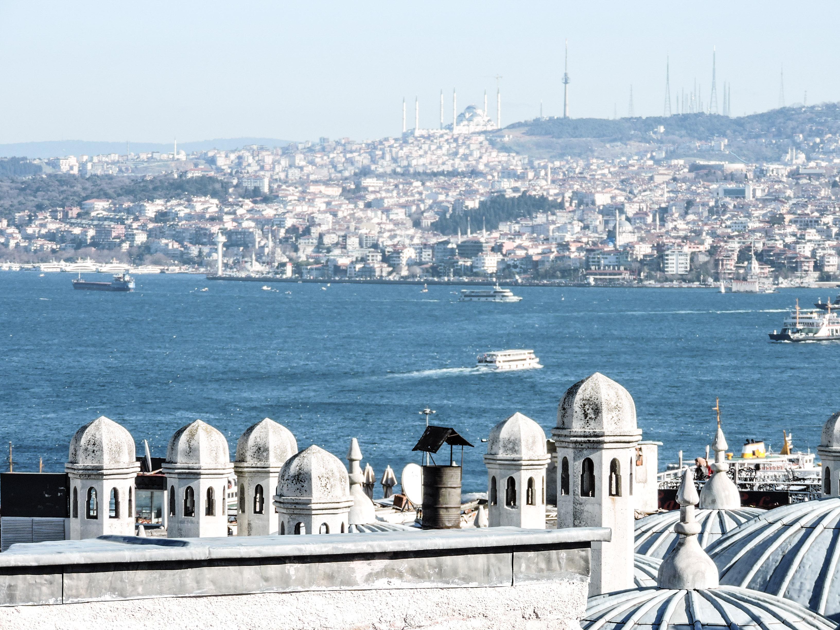 Vista del Bosforo dalla moschea Suleymaniye