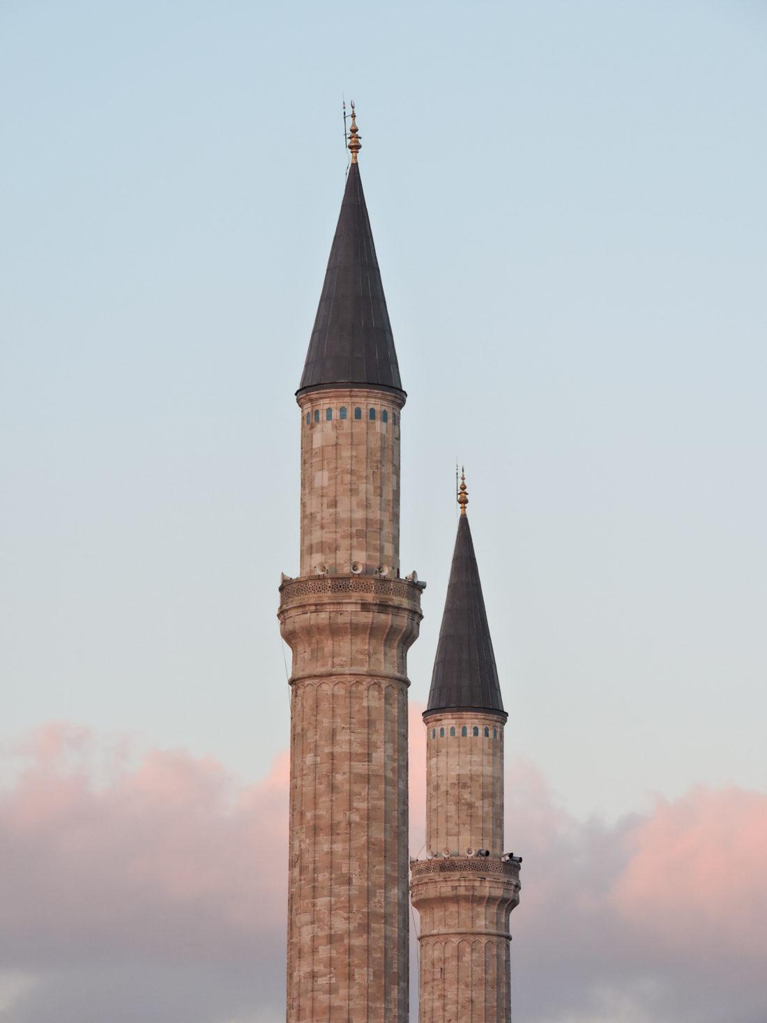 Minareti di Hagia Sophia a Istanbul