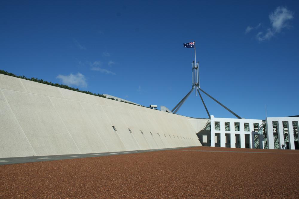 Il parlamento di Canberra, la capitale dell'Australia