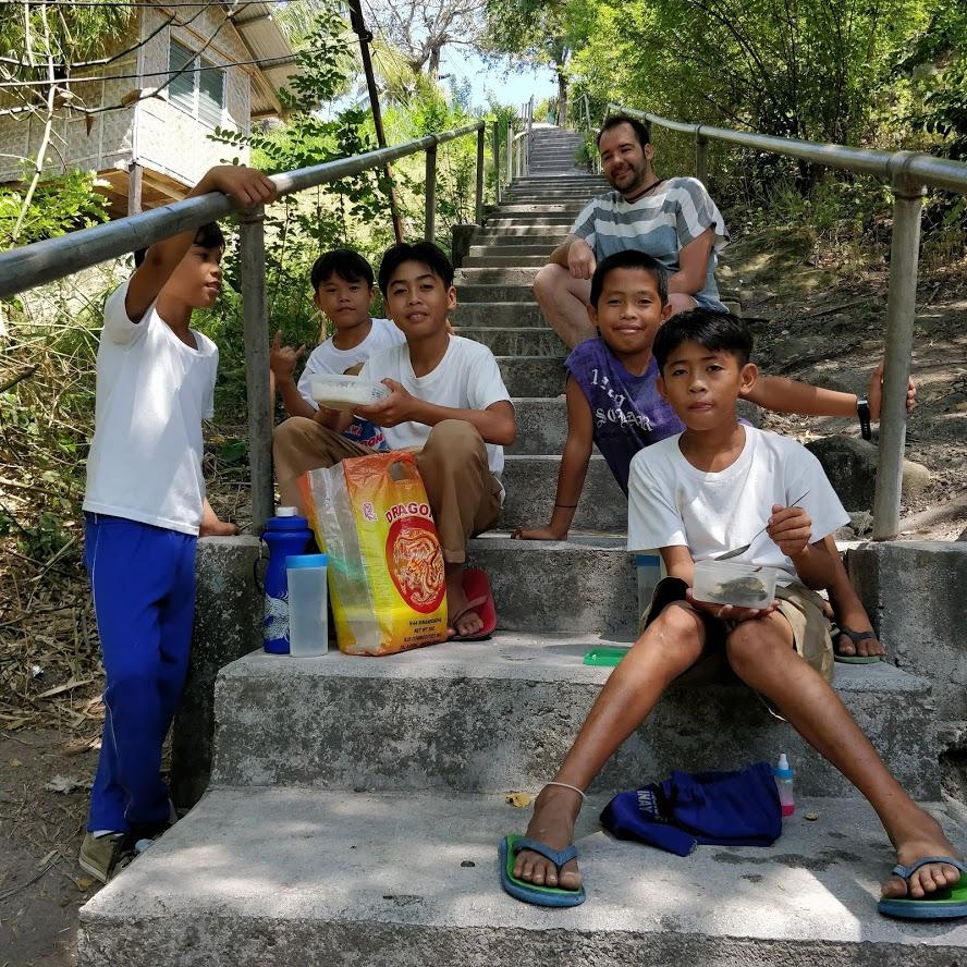 ragazzini di Apo Island