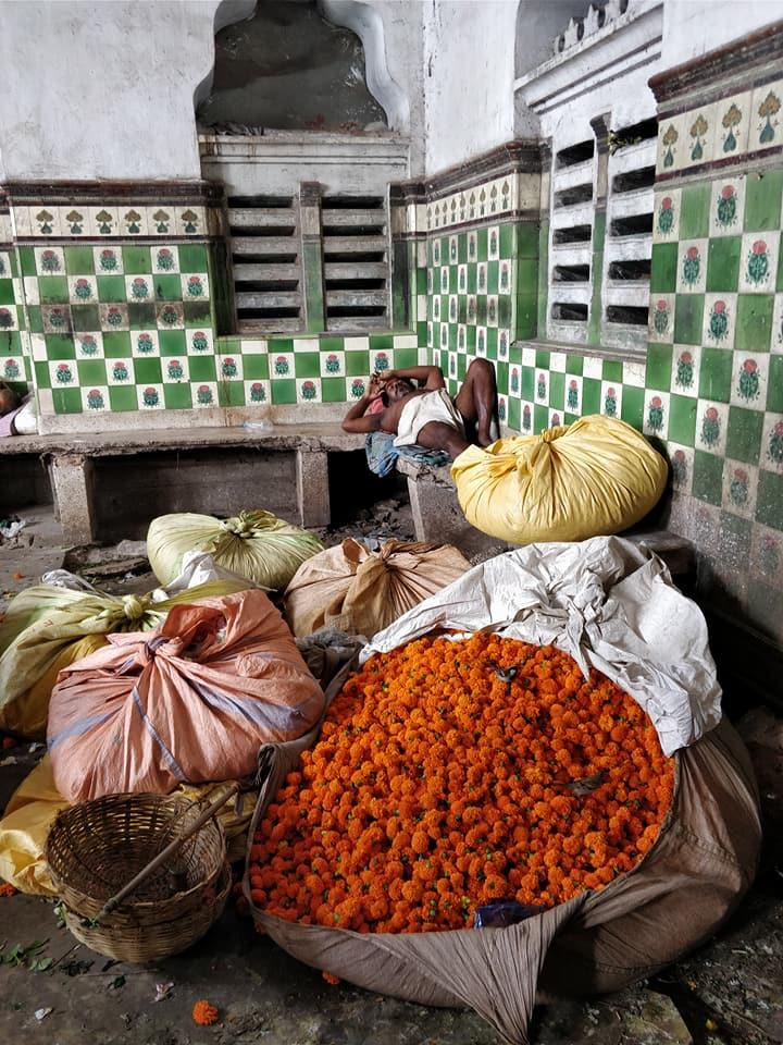 Flower Market a Mullick Ghat a Calcutta
