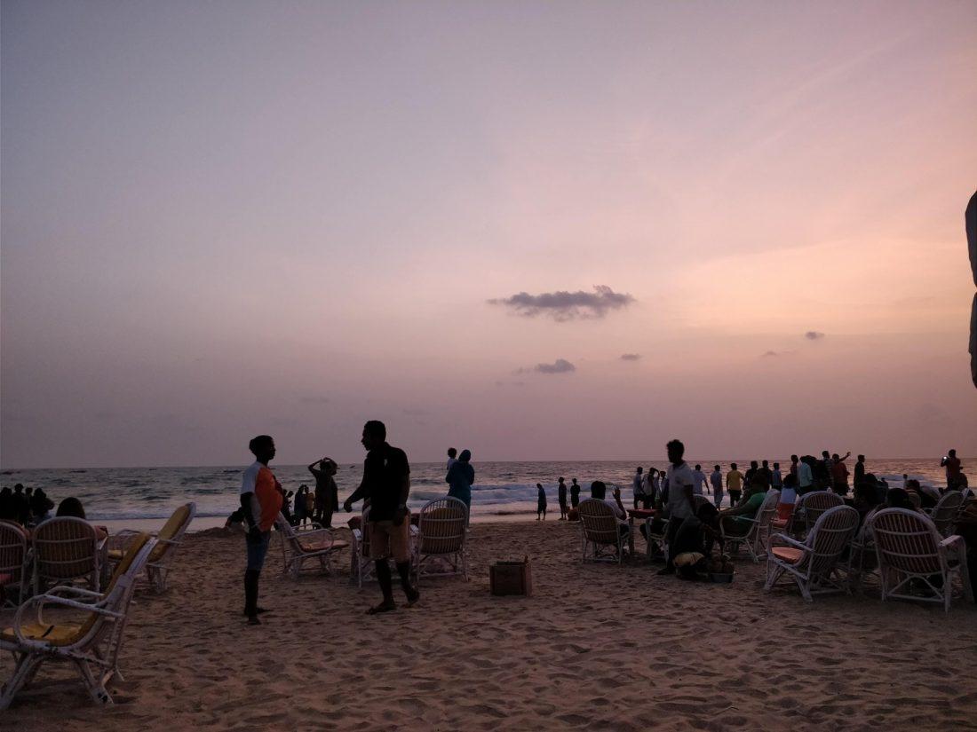 Aperitivo in spiaggia a Calangute, Goa