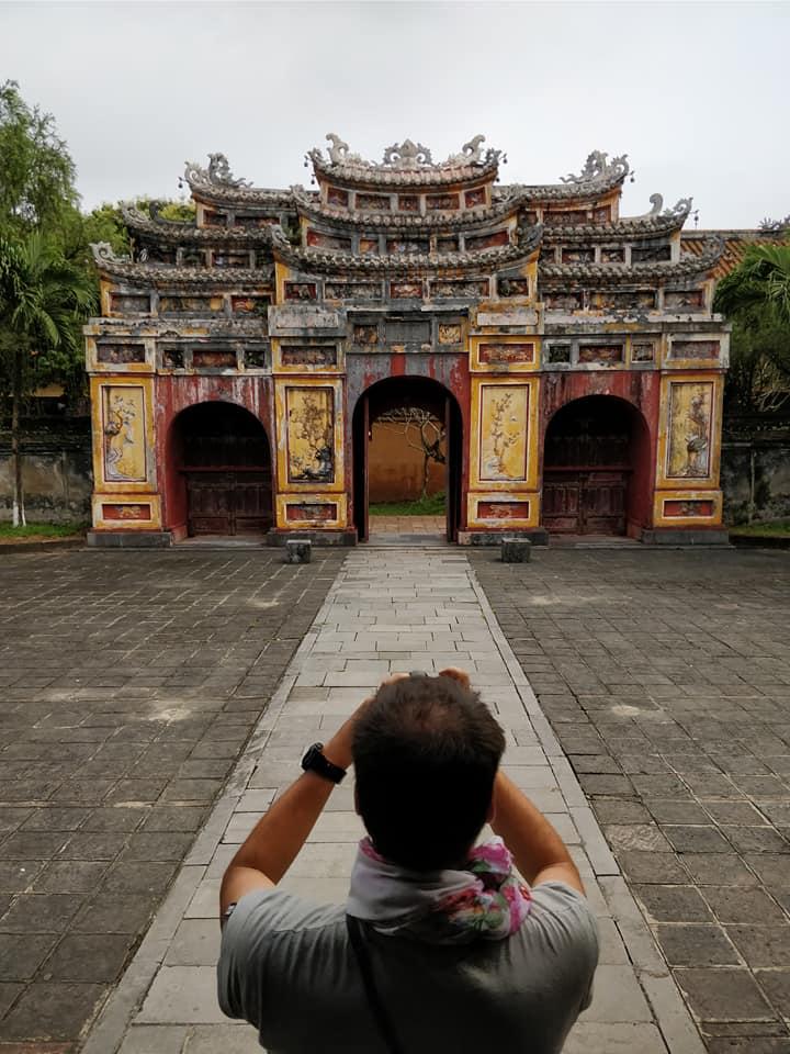 All'interno della cittadella purpurea di Hue (l'equivalente della città proibita di Pechino)