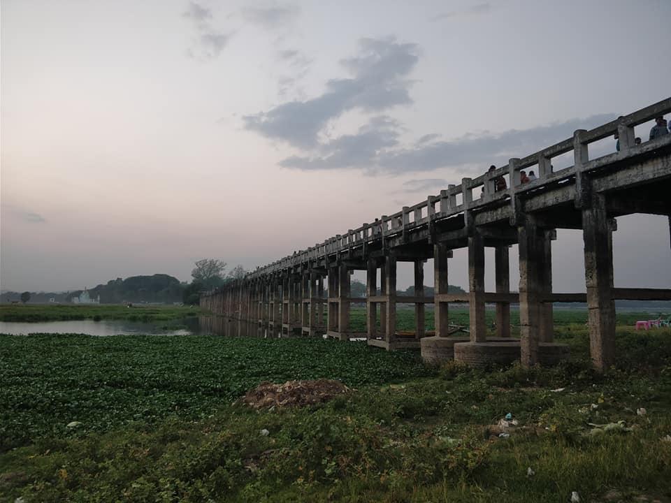 U Bein Bridge vicino Mandalay
