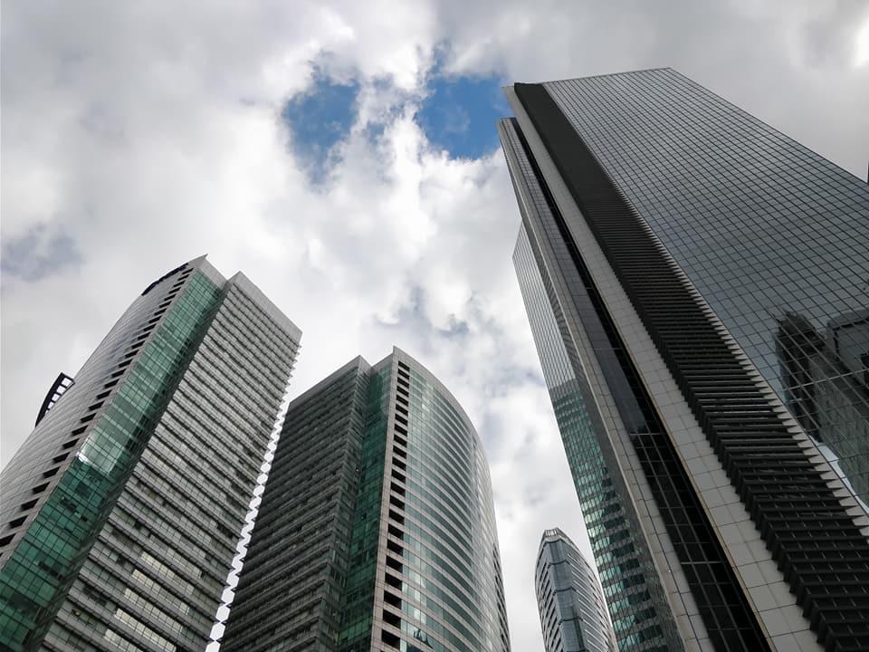 La skyline di Makati, il quartiere finanziario di Manila