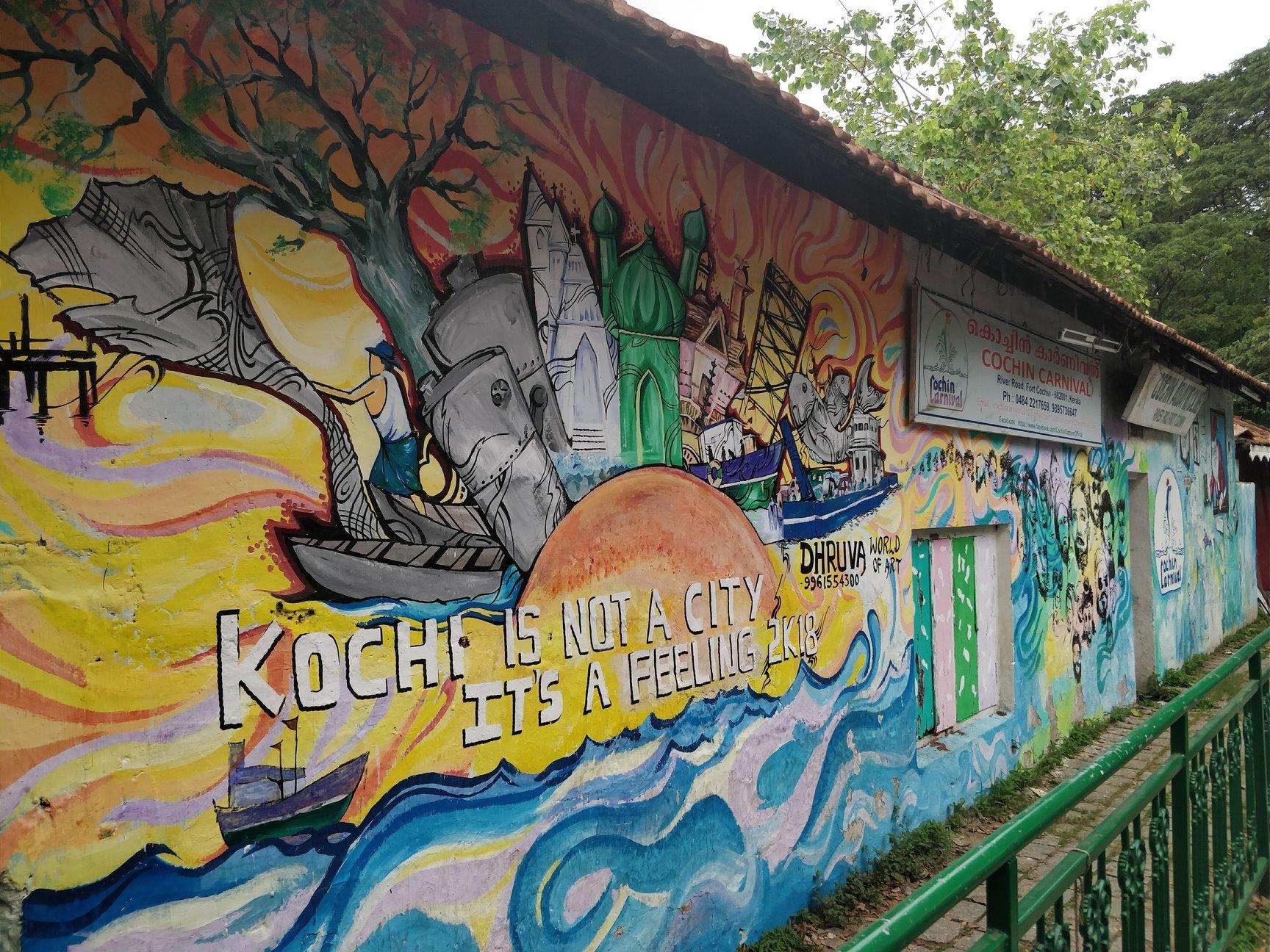 vibrante vitalità artistica a Kochi, la capitale del Kerala