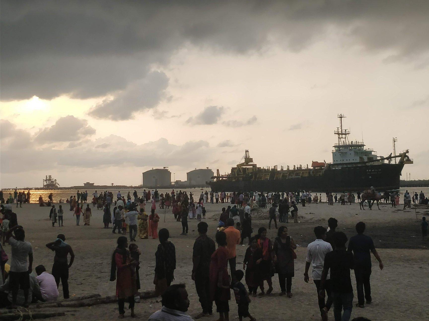 Nave pronta per attraccare a Kochi, la capitale del Kerala