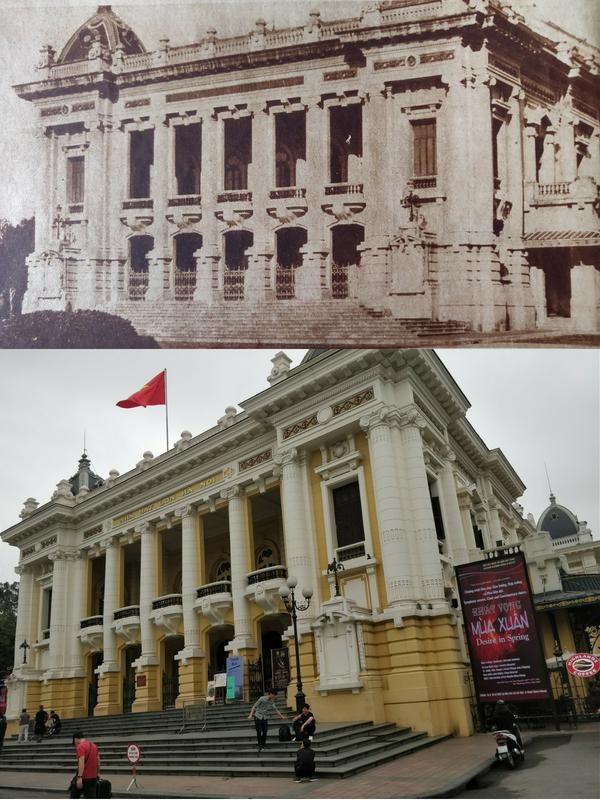 Il teatro (oggi Nhà hát Lớn Hà o Hanoi Opera House)