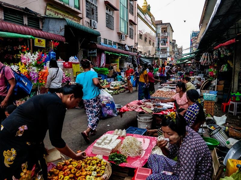 Street food, Yangon