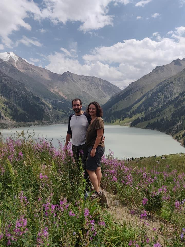 Il big almaty lake, poco fuori Almaty sulla catena del Tian Shan
