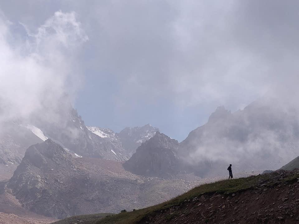 A shimbulak, sulla postazione finale di arrivo a quota 3200m