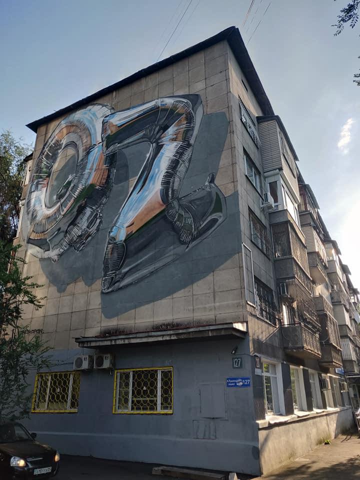 Murales ad Almaty in Kazakistan