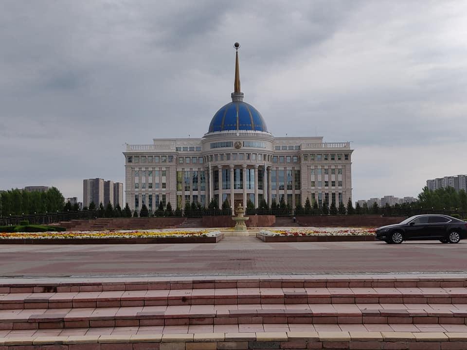 Il caratteristico palazzo presidenziale di Astana in Kazakistan