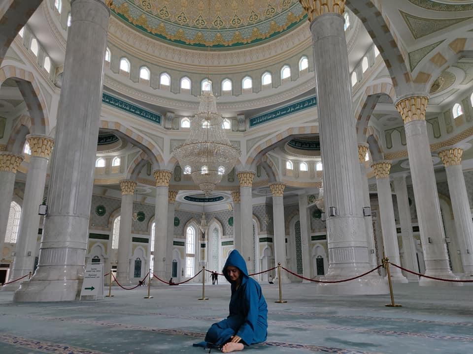 La moschea Hazrat Sultan nel centro di Astana è la più grande dell'Asia centrale