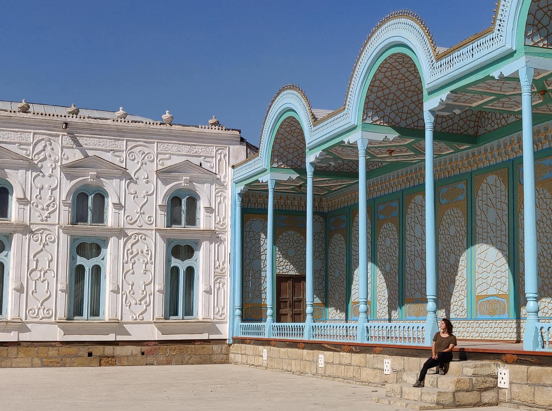 La residenza estiva dell'ultimo emiro di Bukhara, costruita in stile eclettico con evidenti influenze europee