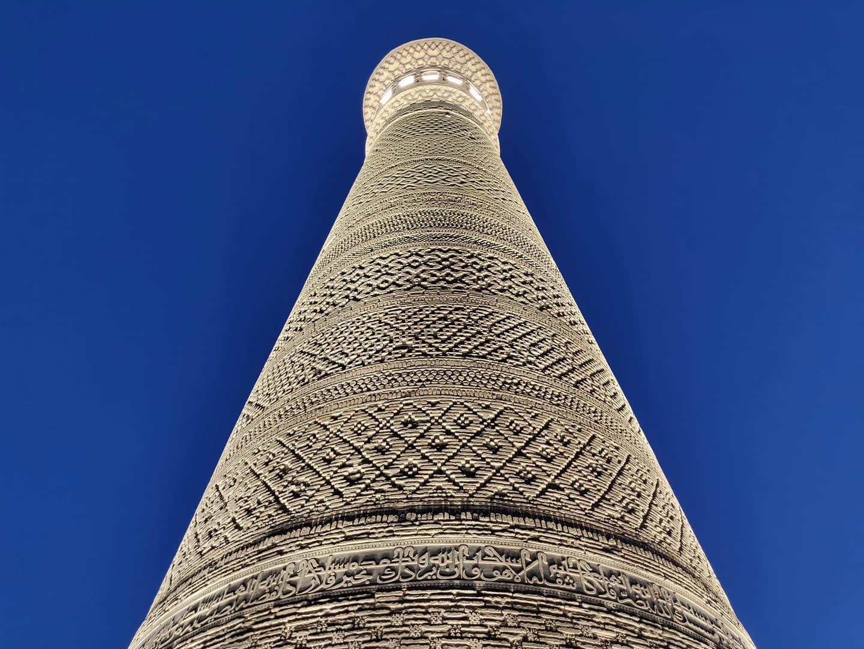 La torre Kalon a Bukhara con tutti i suoi splendidi intarsi