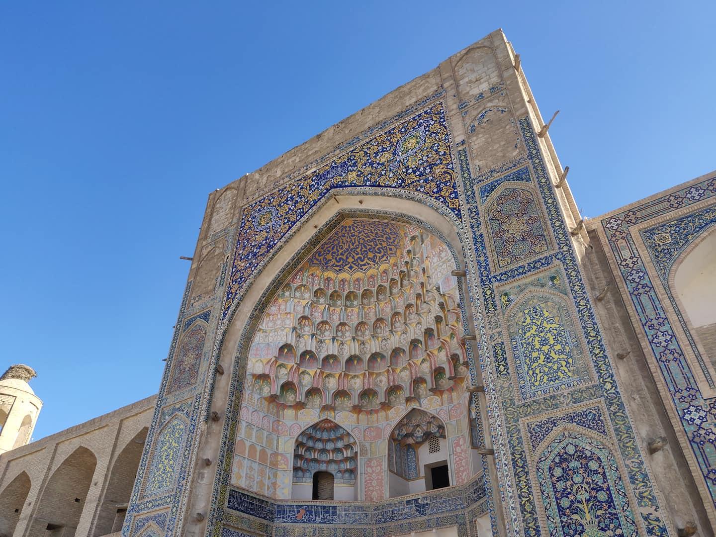 Il portale della medressa Abdullazizkhana