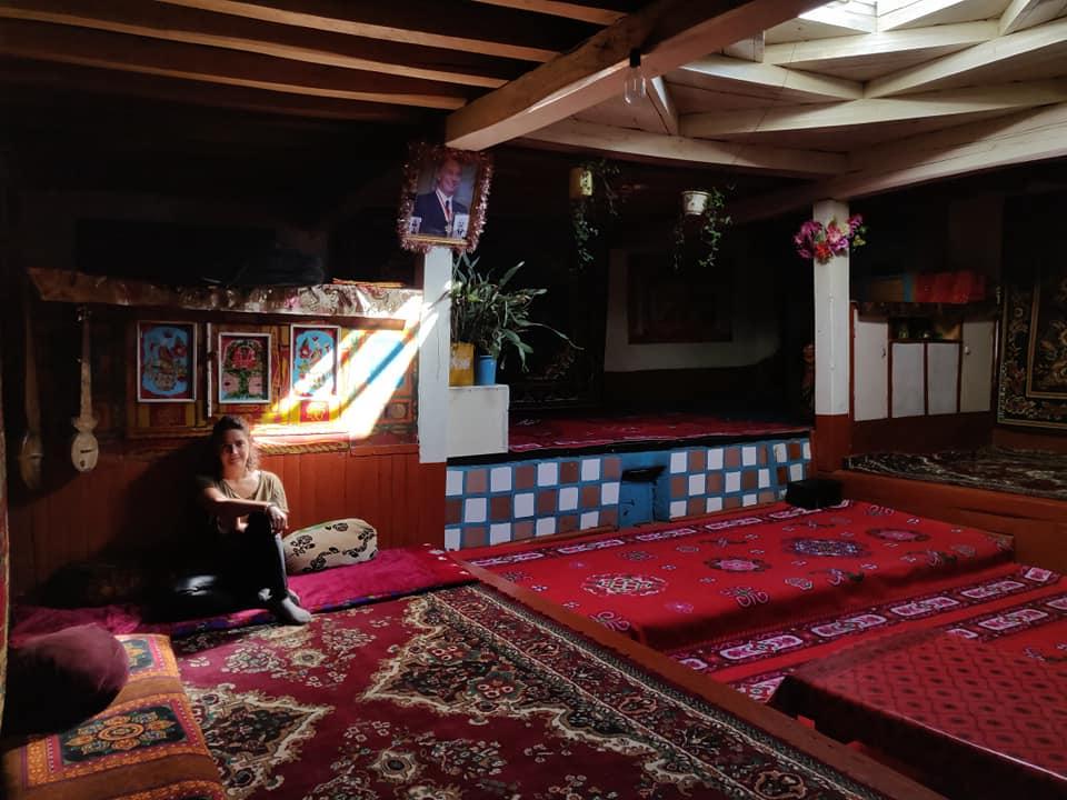 Casa tradizionale Pamiri a Bibi Fatima nella valle del Wakhan