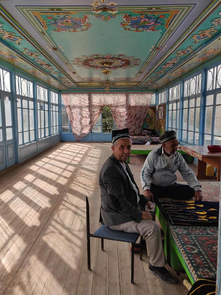 Una tradizionale bellissima chaikana, the house tipica Tajika a Istarawsan