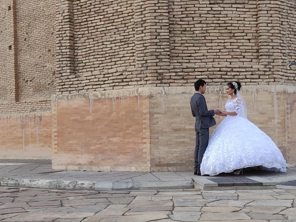 Il complesso del mausoleo Khoja Ahmed Yasawi a Turkistan: location perfetta per gli scatti di matrimonio, no?