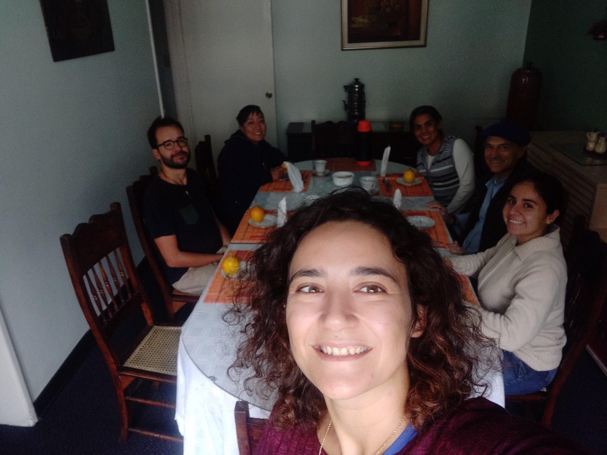 A pranzo dalle suore del buon pastore con Padre Gabriele nel quartiere di Santa Fe a Bogotà